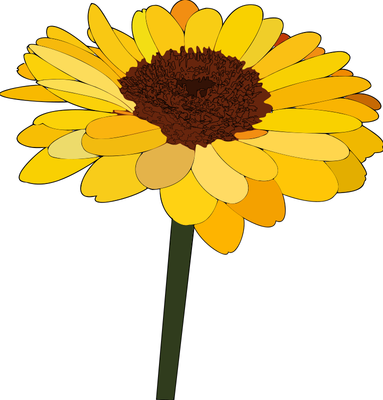 Sunflower clipart diagram. Free line art download
