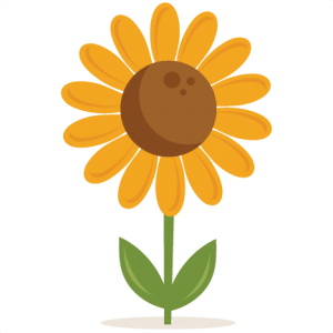 Sunflower clipart silhouette. Miss kate cuttables svgs