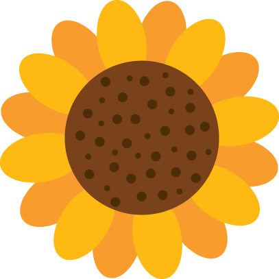 Sunflower clipart silhouette. Pin by terri on
