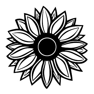 Sunflower clipart silhouette. Vinyl sticker car decal