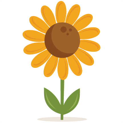 sunflower clipart silhouette