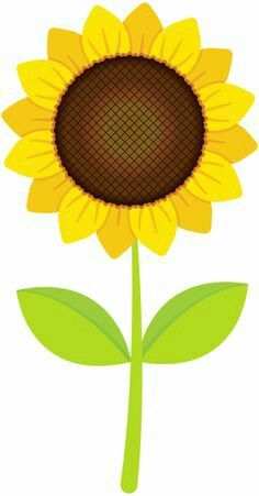 Sunflower clipart single sunflower. Free printable stencils clip