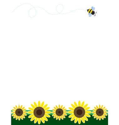 Sunflower clipart single sunflower. Borders