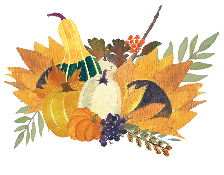 Sunflower clipart thanksgiving. Happy from all of