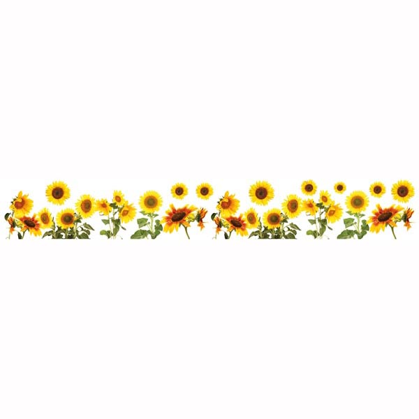 Sunflowers clipart divider. Border decal home d