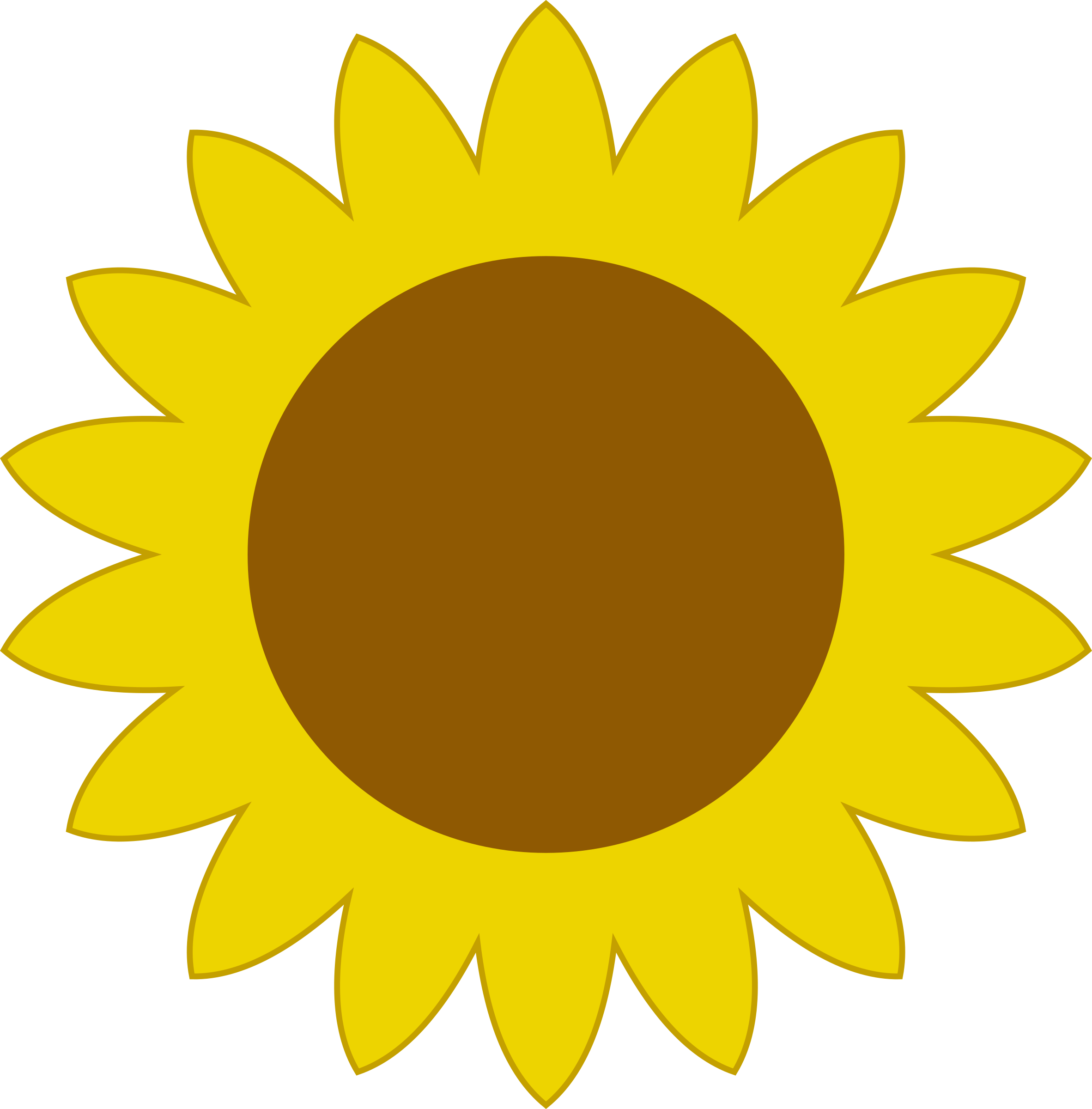 Sunflowers clipart simple. Sunflower big image png