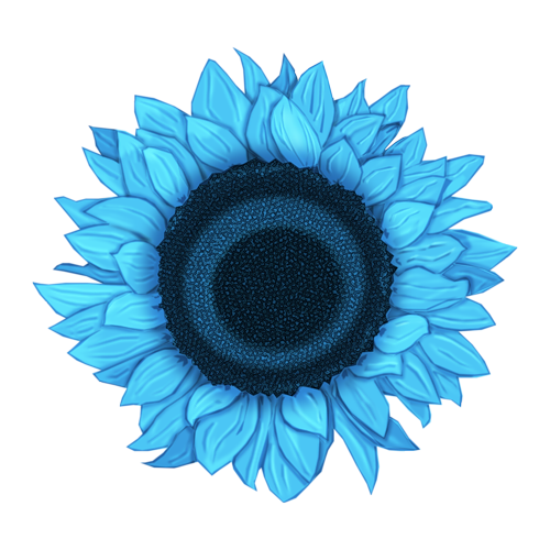 Sunflowers png blue. Flc light sunflower f