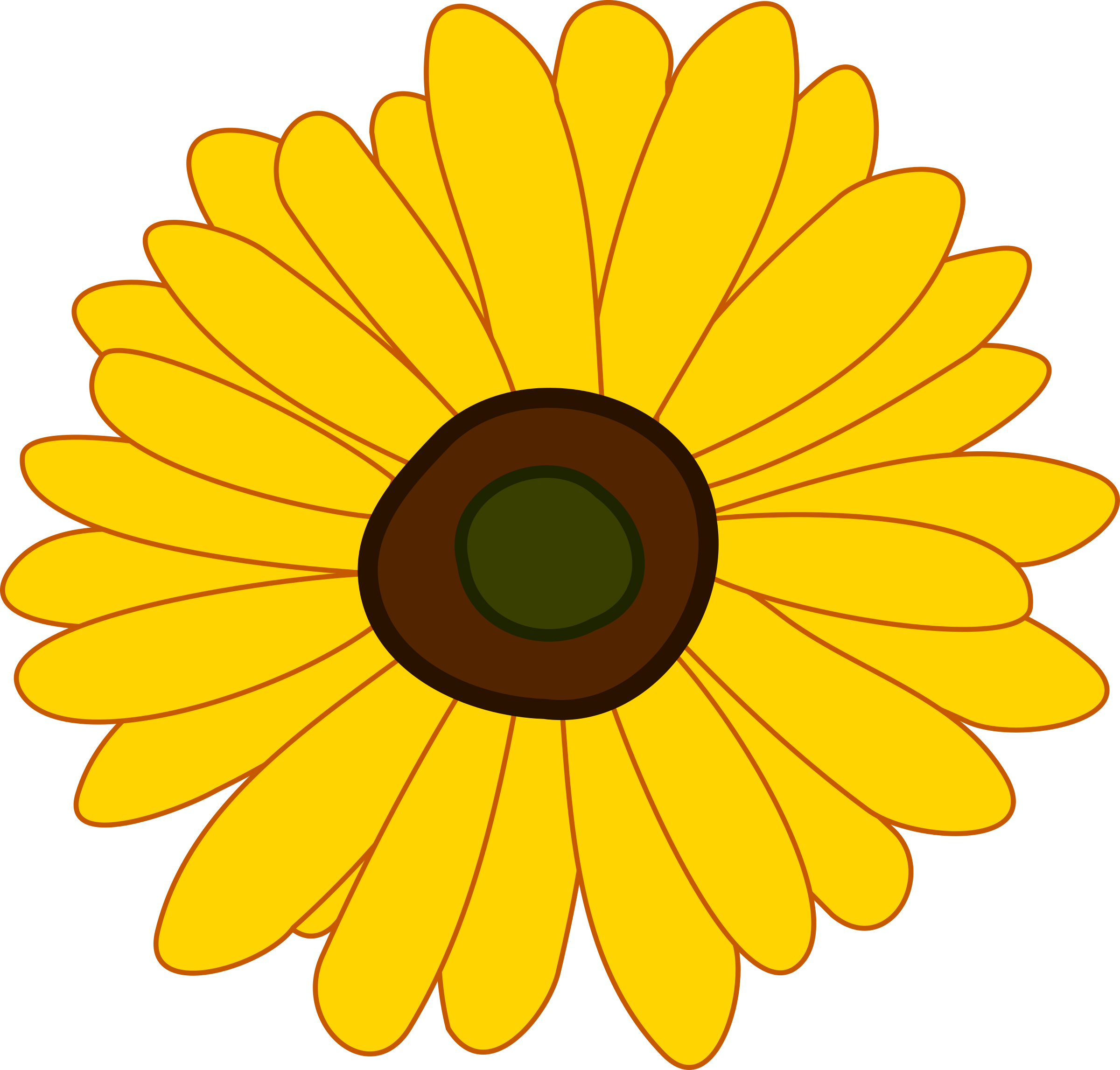 Sunflowers png pdf. Sunflower icons free and