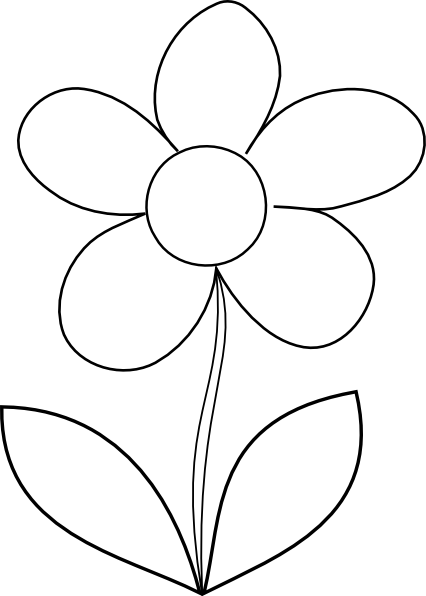 Sunflower clipart black and white. Printable