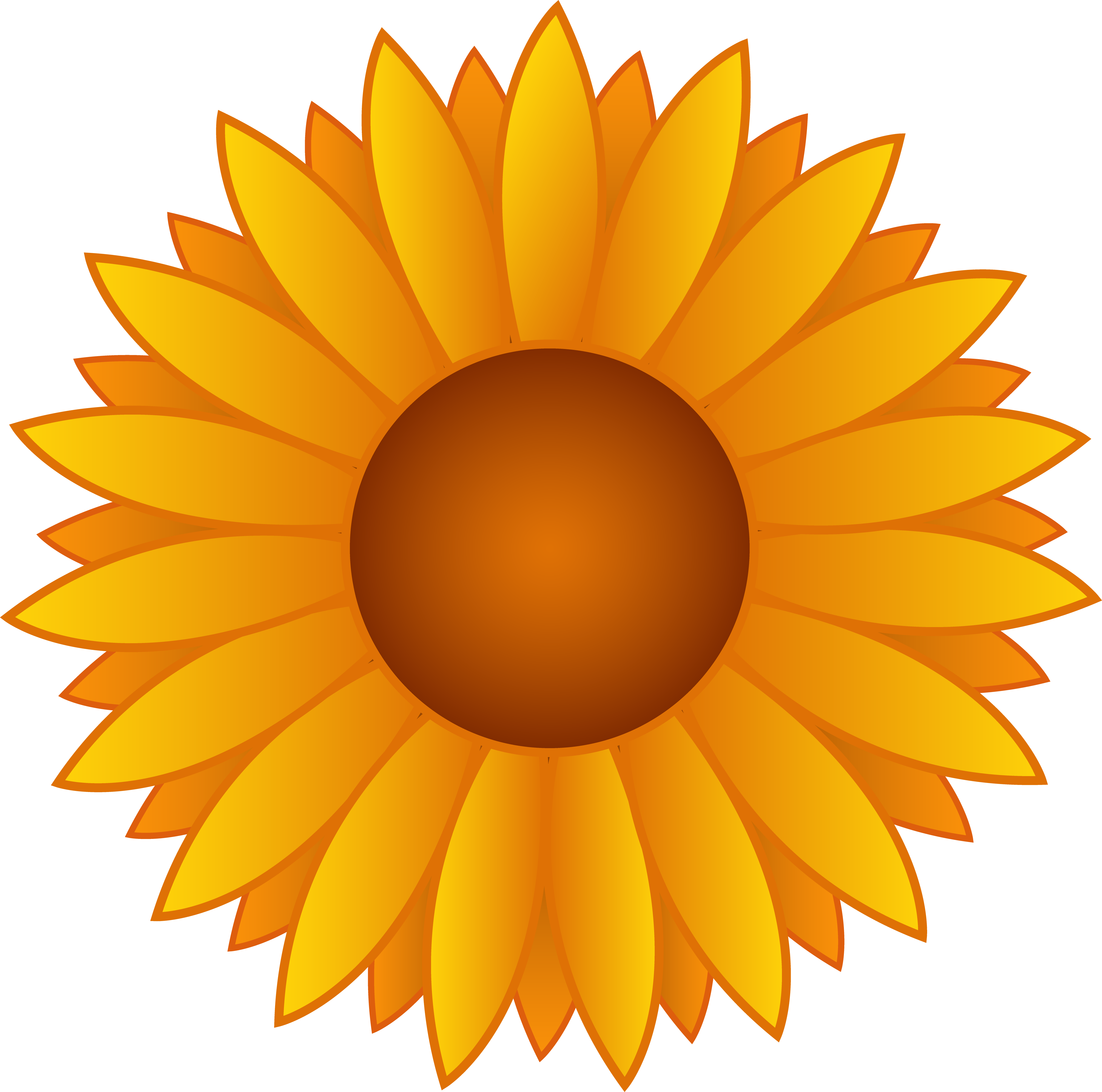 Sunflowers png printable. Clipart colorful huge