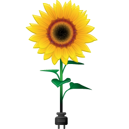 Sunflowers png tall. Sunflower with power plug