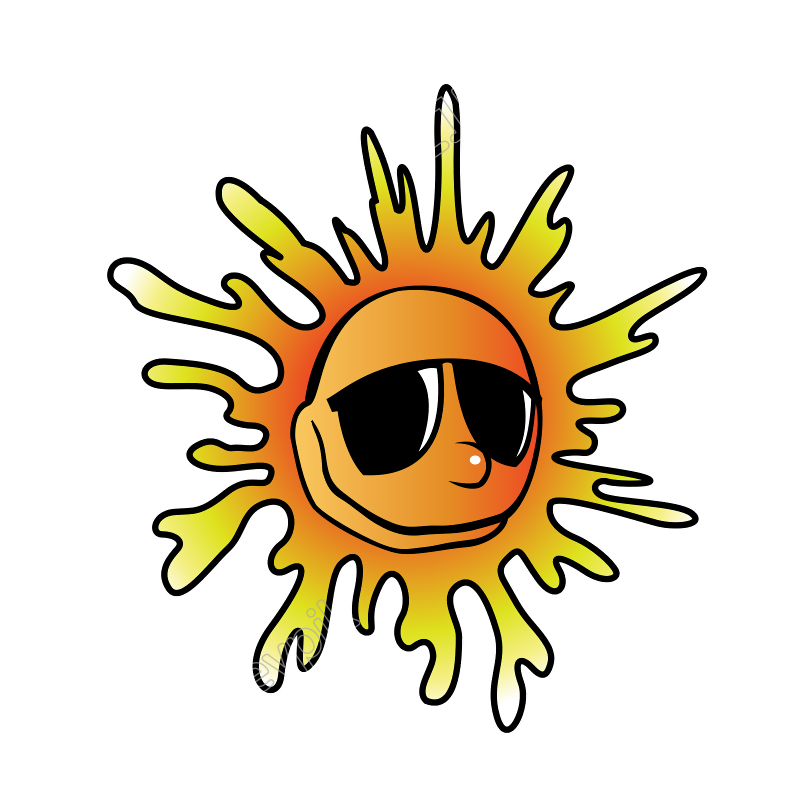 Heat vector summer. Sunglasses free svg download
