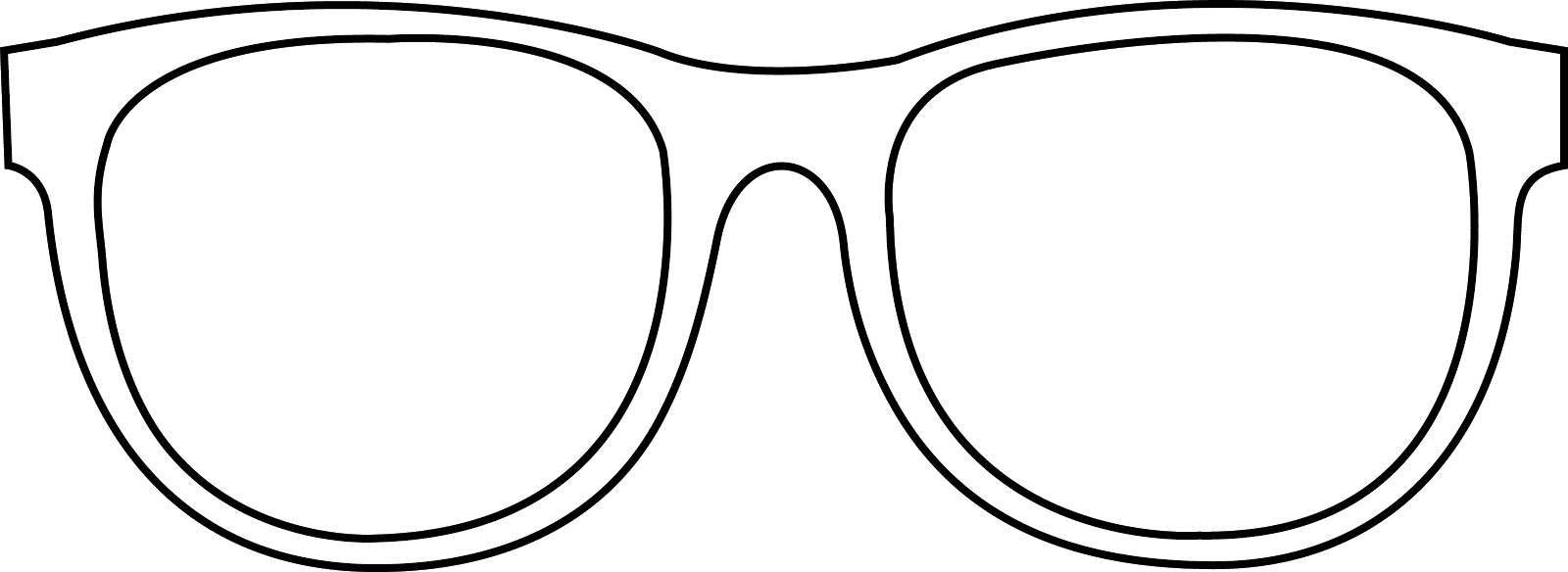 Sunglass svg colouring. Sunglasses outline clip art