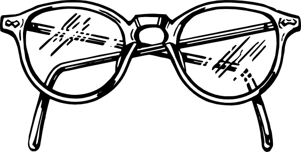 Sunglass svg colouring. Spectacles clip art at