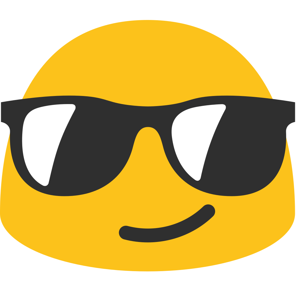 And svg sunglasses. File emoji u f