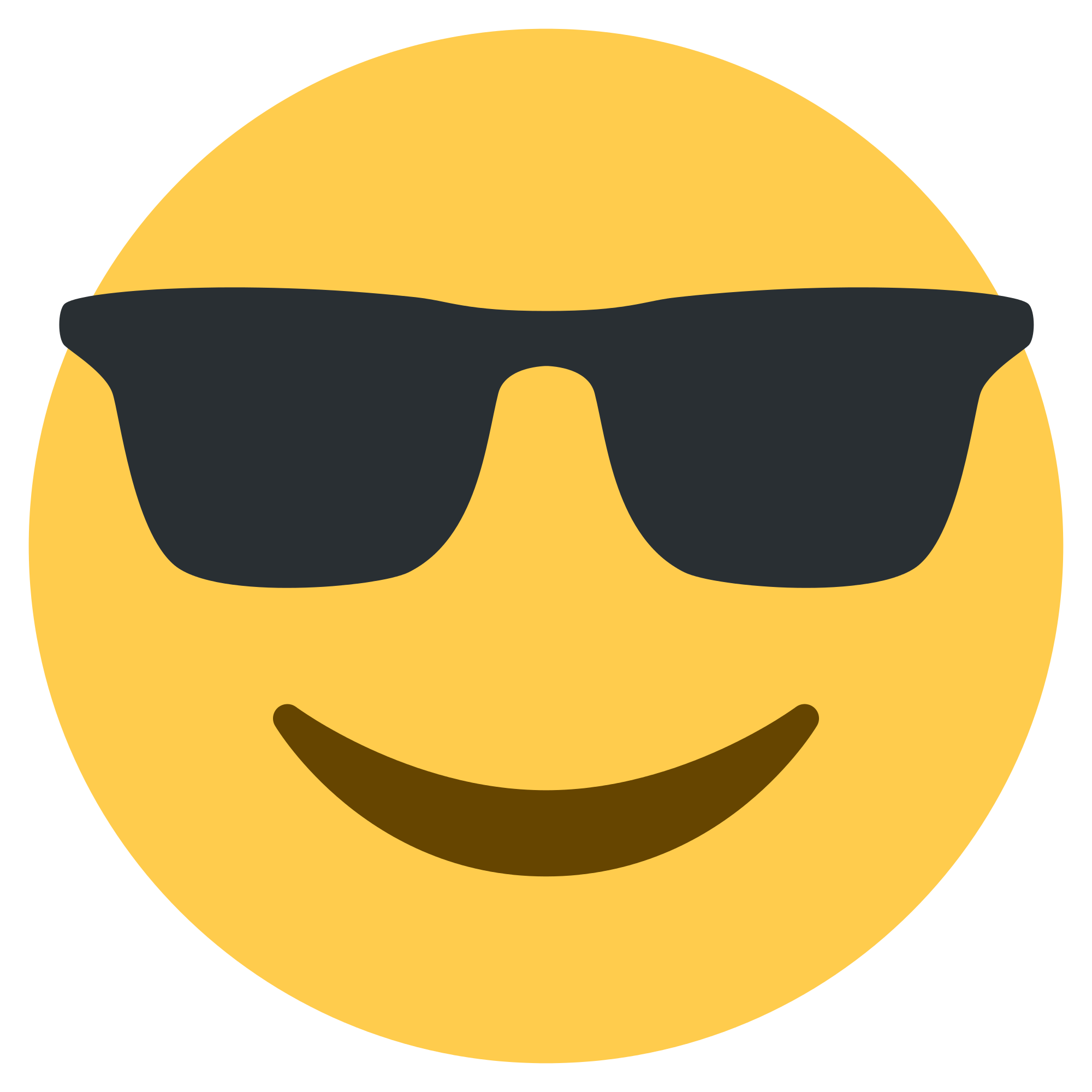 Sunglass svg emoticon. Image black and