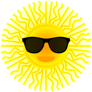 Sunglass svg royalty free. Sun with sunglasses clip