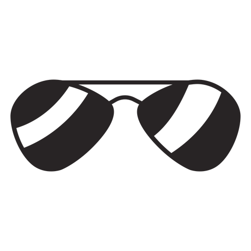 American vector sunglasses. Silhouette transparent png svg