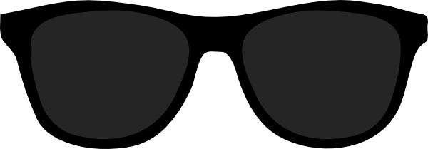 Transparent aviators svg. Sunglass image black