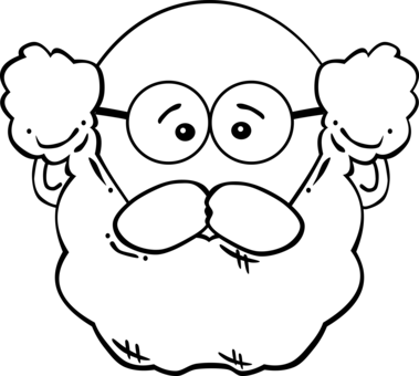 Sunglasses clipart bearded man. Drawing glasses free commercial