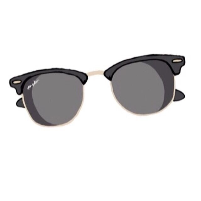 Sunglasses clipart glass tumblr. Ray bands idk hipster