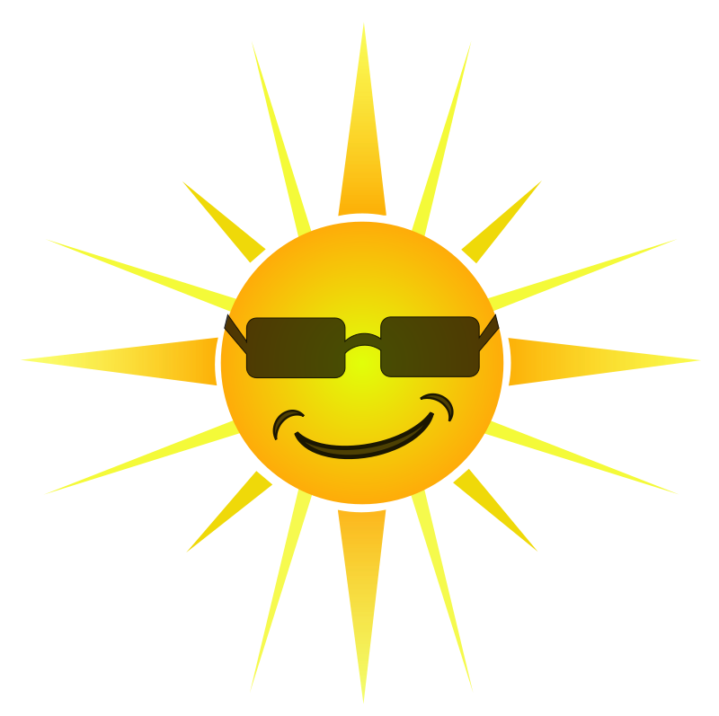 Sunglasses clipart sunshine. Free sun with shades