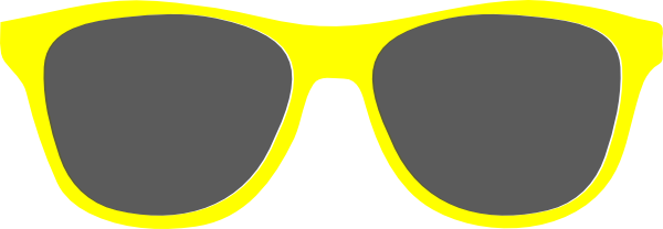 Sunglasses clipart vintage. Bright yellow sunshine clip