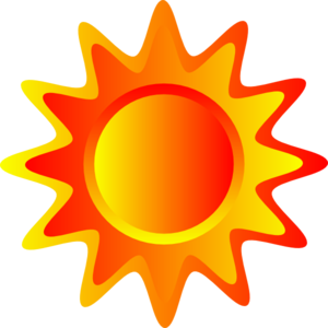 Pattern clipart sun. Red orange and yellow