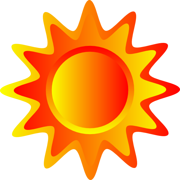Sunlight clipart png. Red orange and yellow