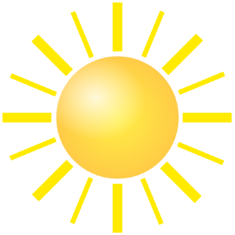 Sunlight drawing real sun. Silhouette free commercial clipart