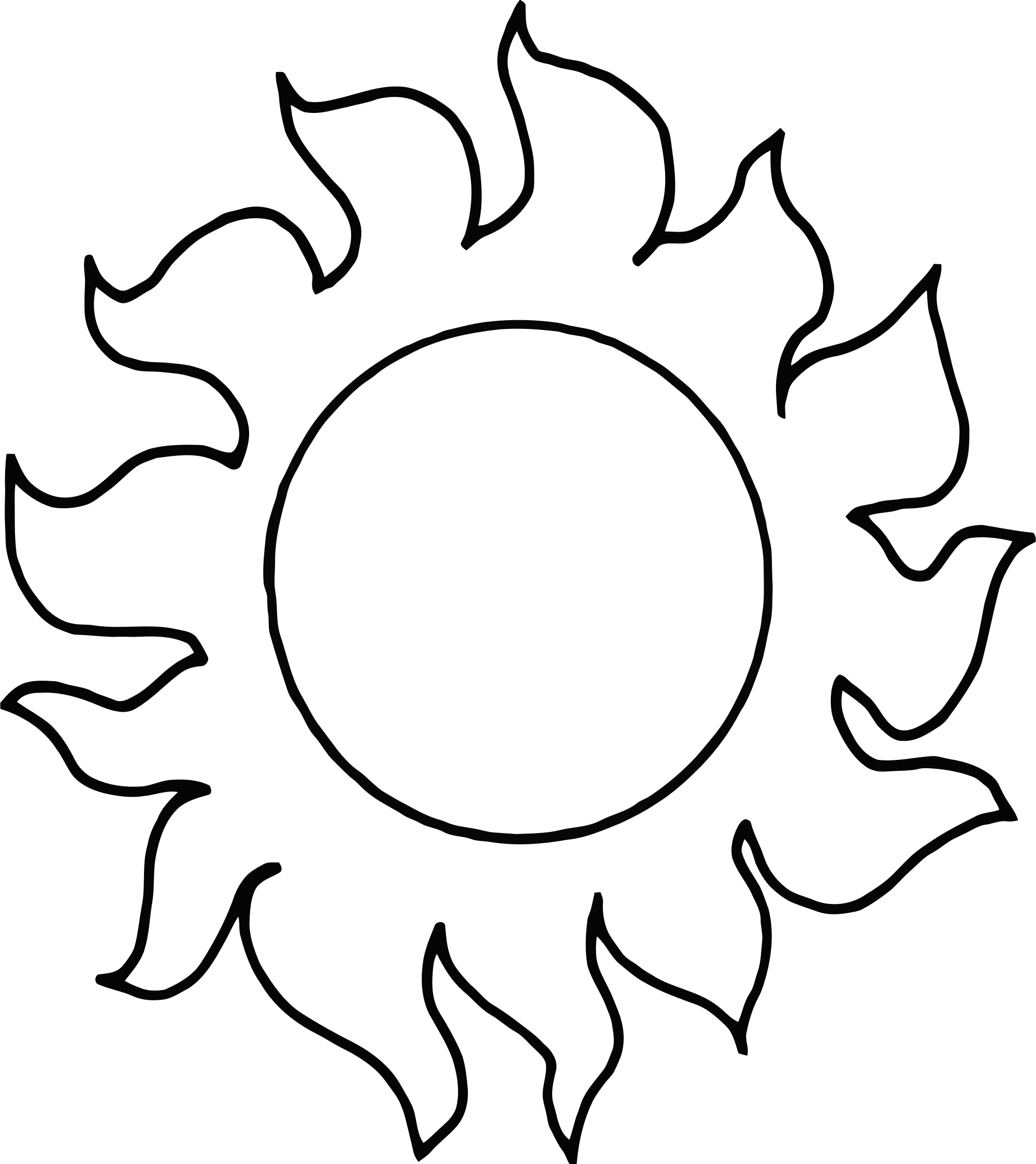 Drawing sunset black and white. Sun moon svg