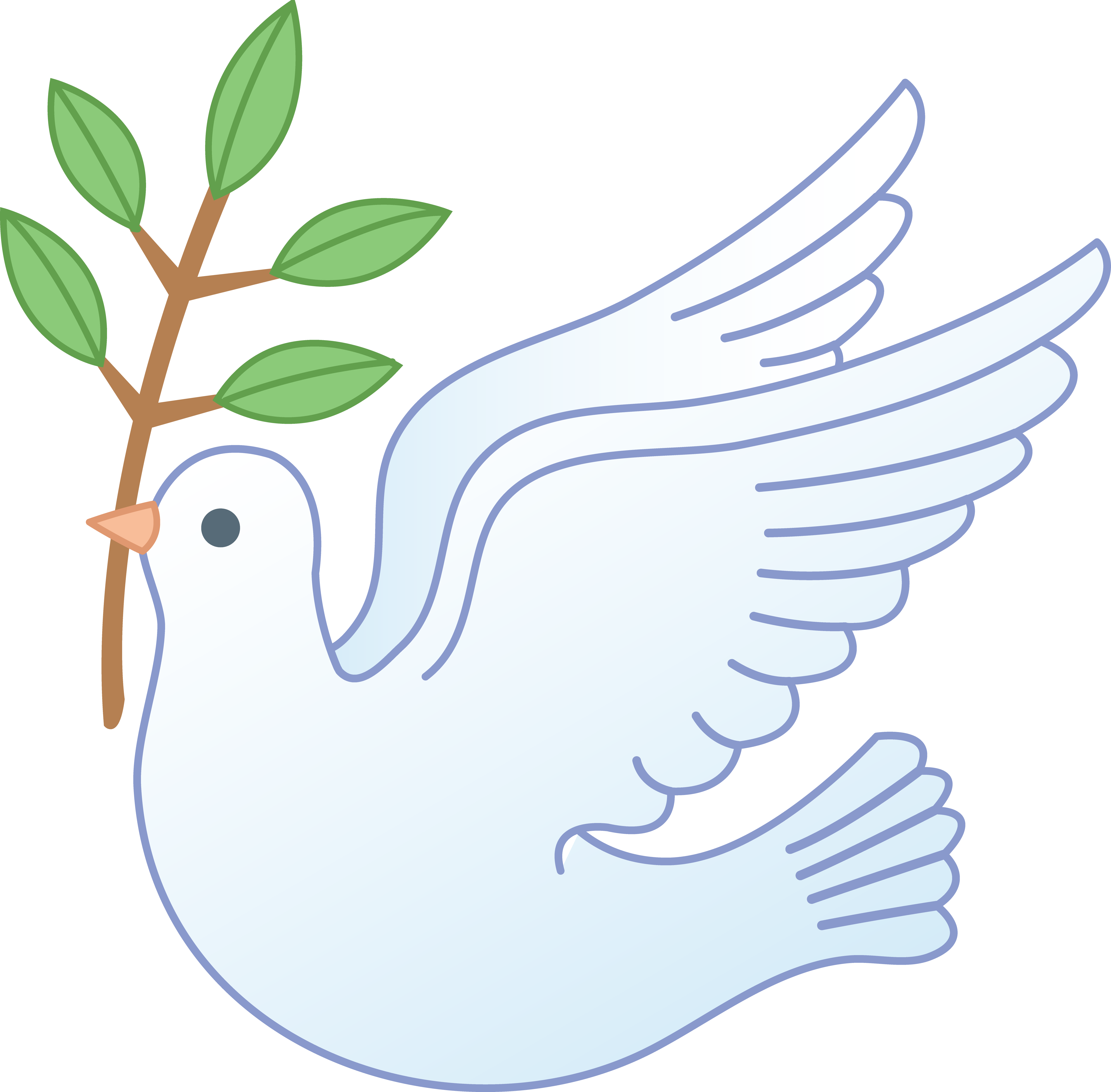 Drawing posters world peace. White dove with branch