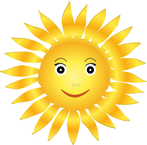 Transparent sunshine smiling. Free cliparts smiley download