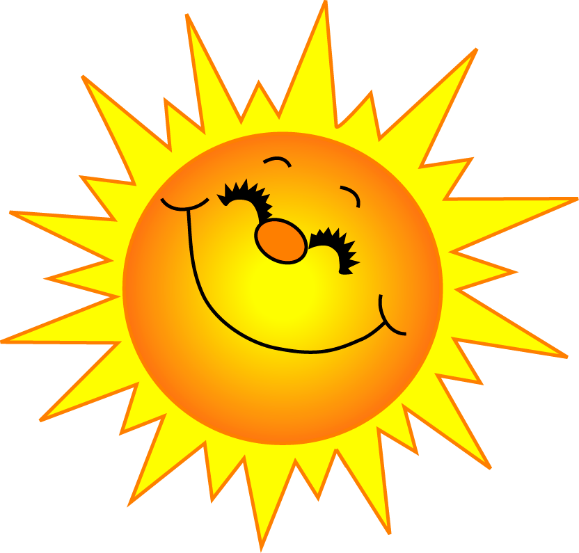 Sunny clipart smiley. Sunshine and springtime pinterest