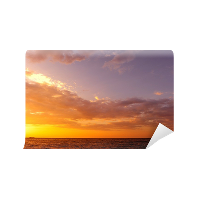 Sunset background png. Sea wall mural pixers
