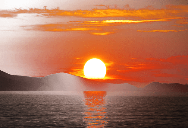 Sunset png. Portable network graphics