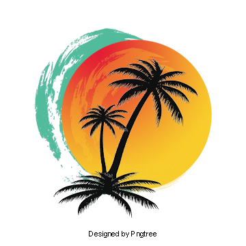 Coconuts vector half coconut. Sunset clipart images png