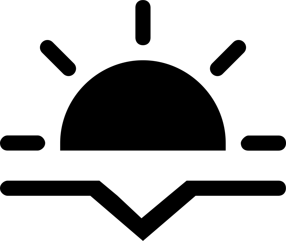 Sunset icon png. Fill interface symbol svg