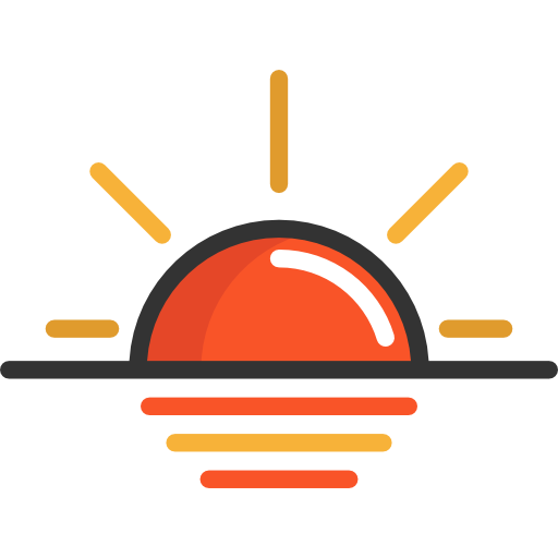 Sunset icon png. Free travel icons