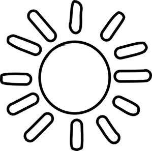 sun clipart black and white png