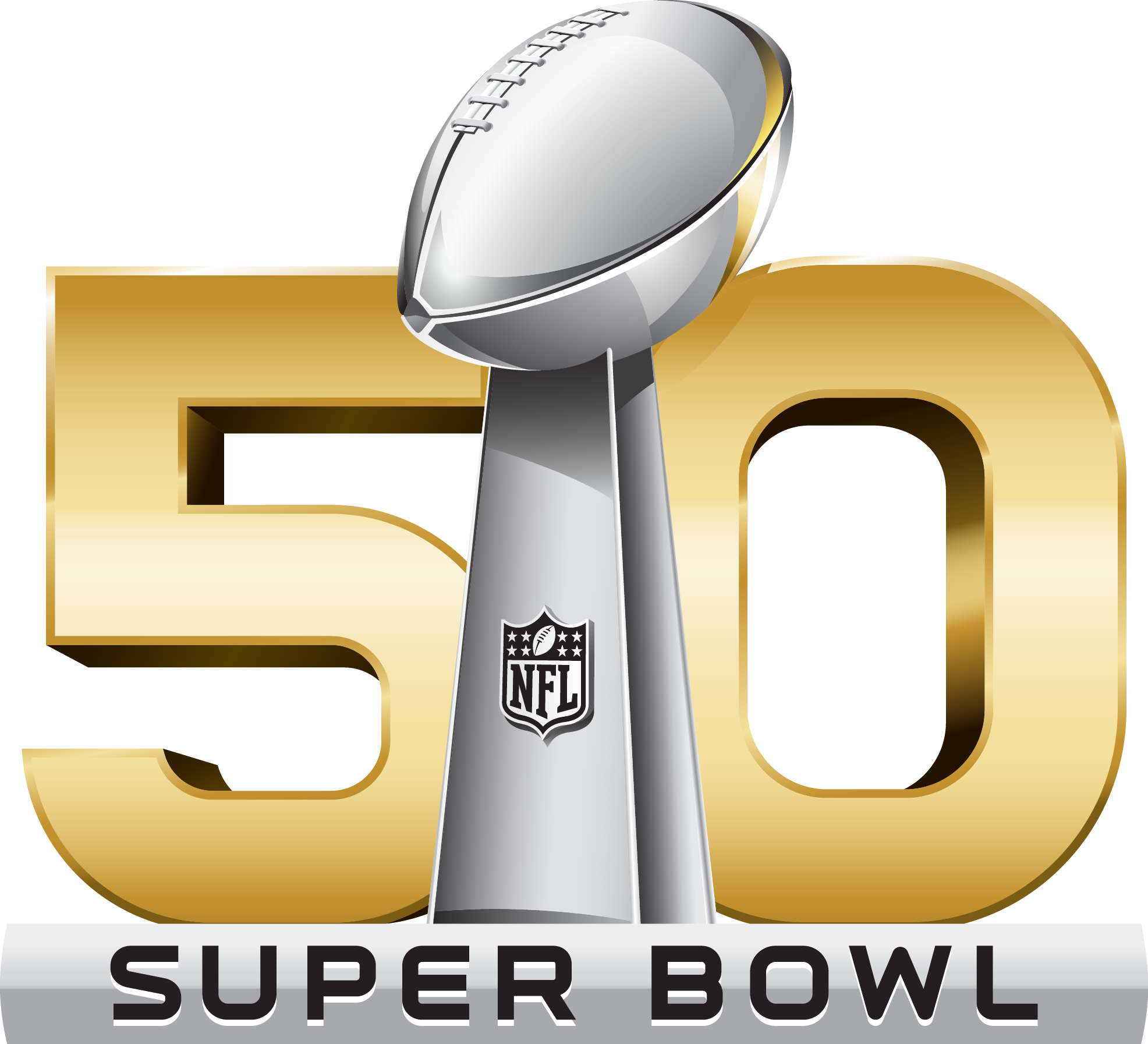Super bowl 50 logo png. Ratings up or down
