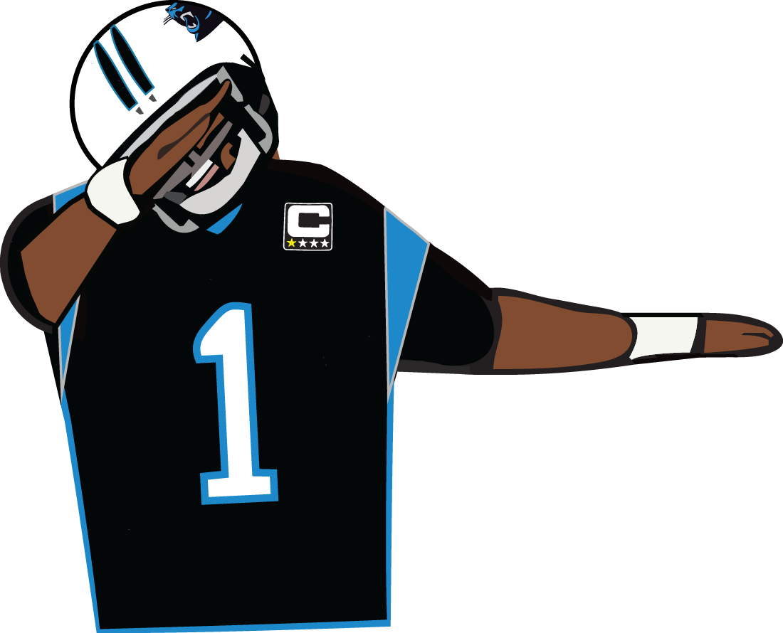 Cam newton dab png. Super bowl preview panthers