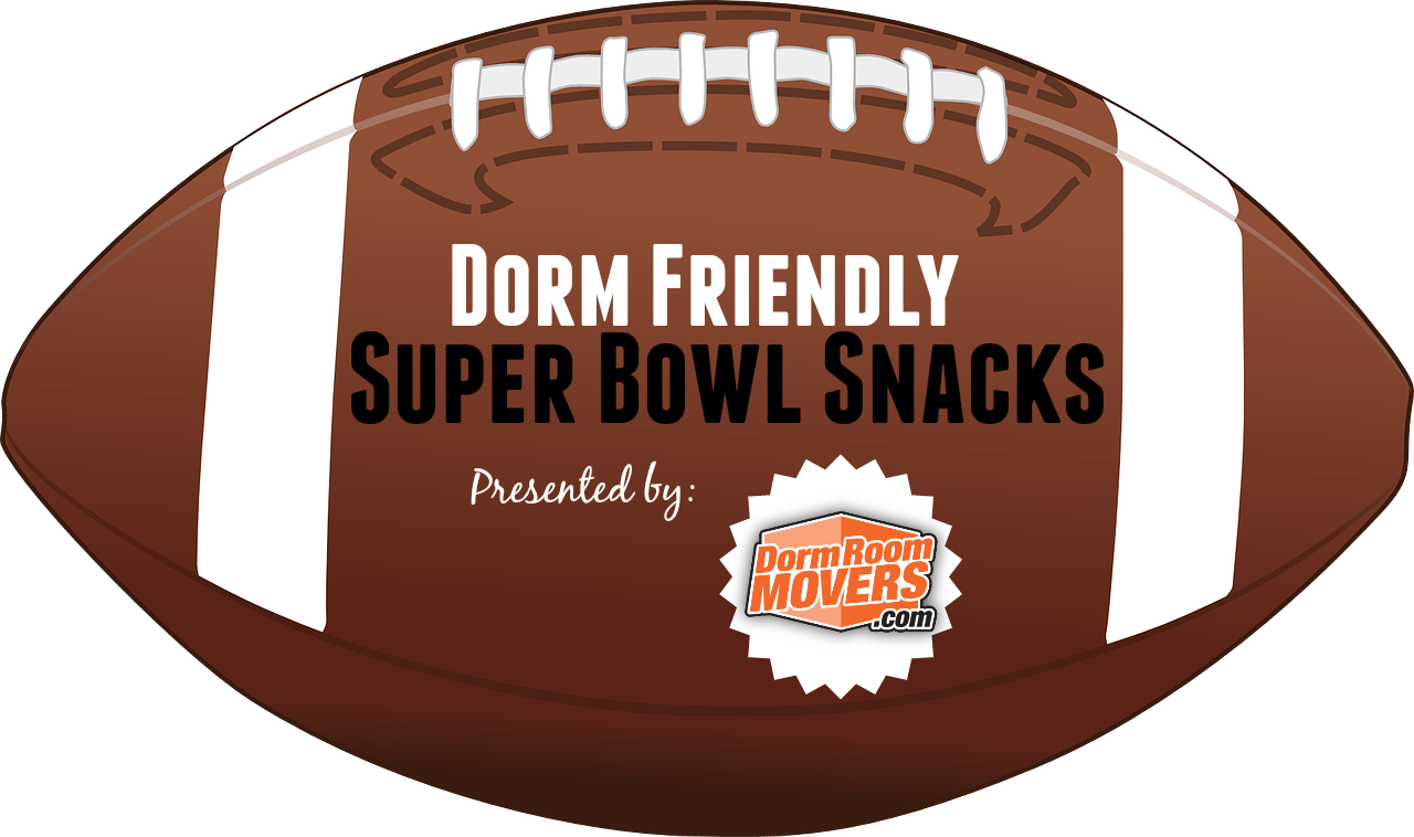 Super bowl ball png. Dorm friendly snacks room