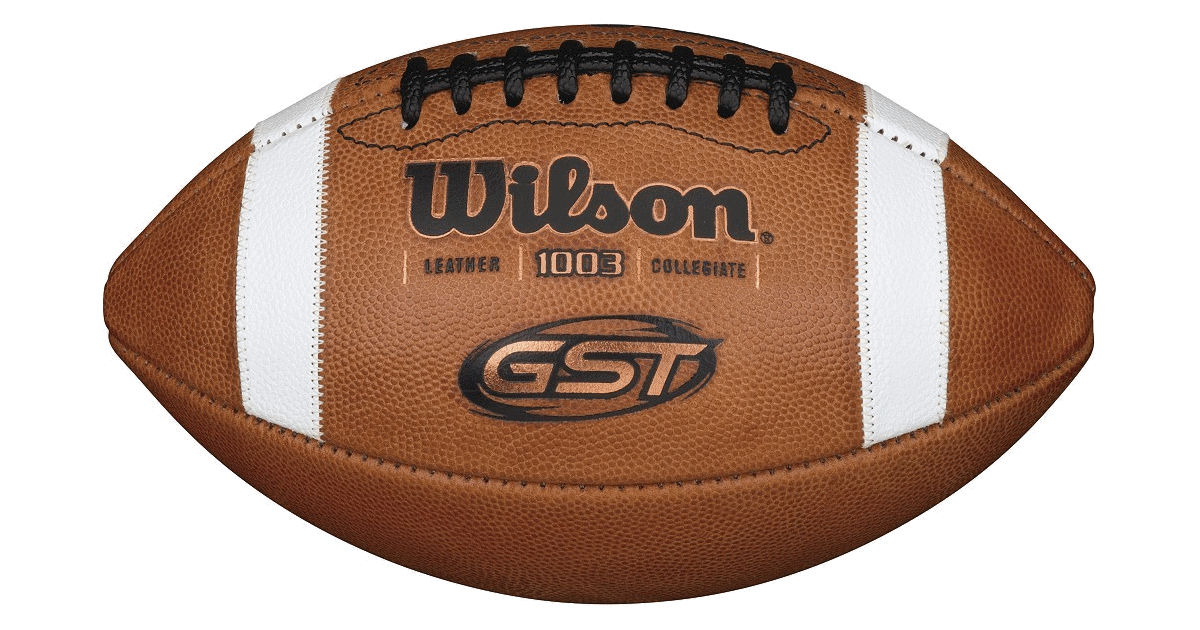 Super bowl ball png. Wilson gst leather football