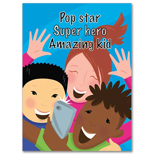 Super clipart pop star. Hero birthday card for