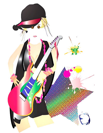 Super clipart pop star. Miss hotpop music and