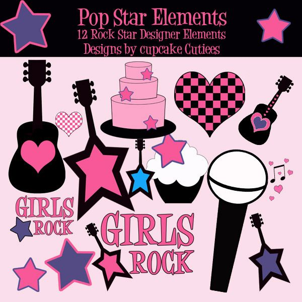 Super clipart pop star. Ideas rockstar rock similiar