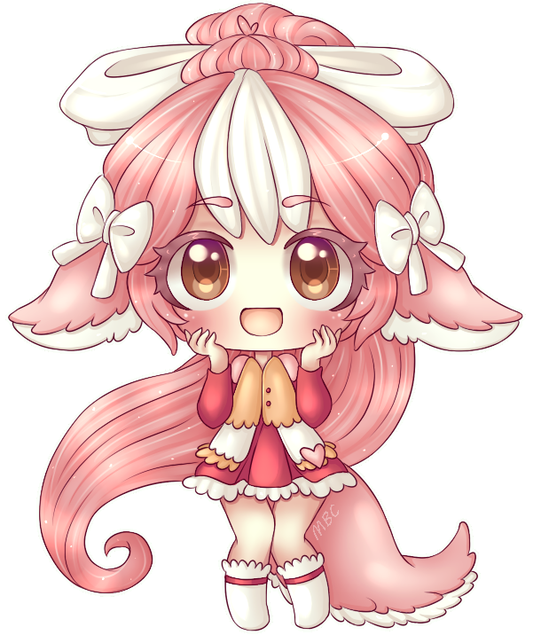 Super drawing adorable. Detailed chibi commission