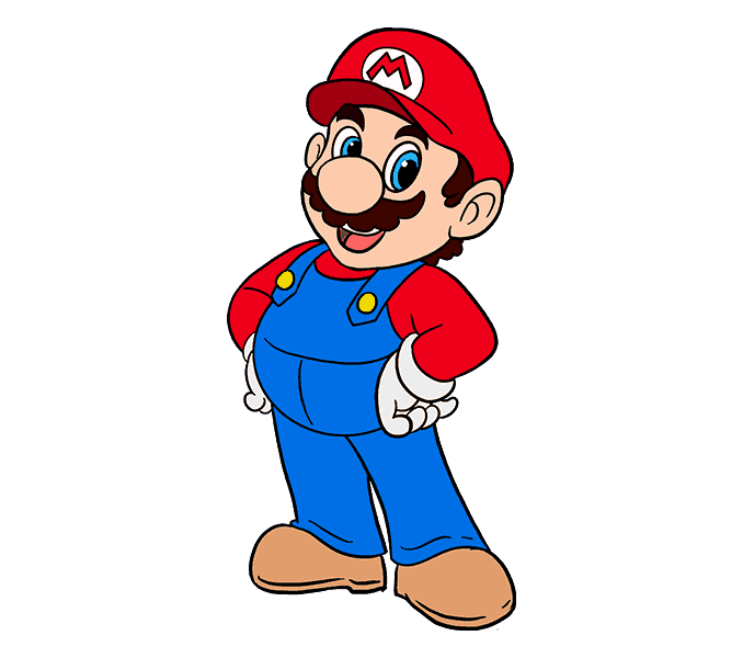 Super drawing cartoon. How to draw mario