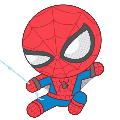Super drawing spiderman. Smhc sticker swinging png